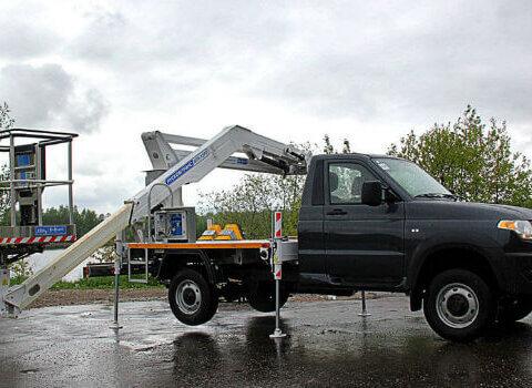 : Автомобильный подъёмник АГП-15РТ на базе УАЗ Профи