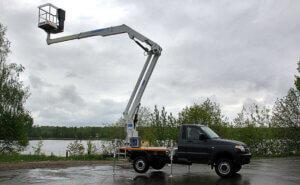 Модификация УАЗ Профи для высотных работ